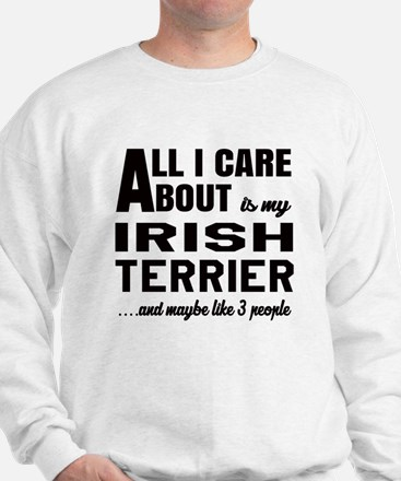 All I care about is my Irish Terrier Do Sweatshirt