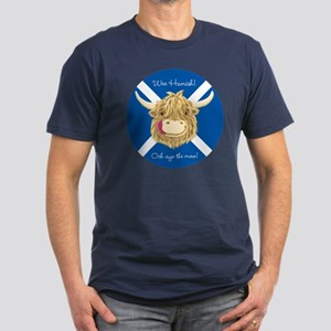 Personalised Happy Scottish Highland Cow (Saltire)