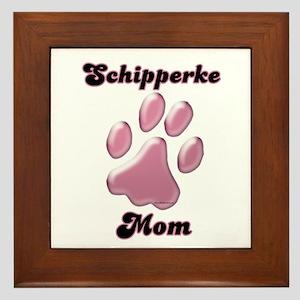 Schipperke Mom3 Framed Tile
