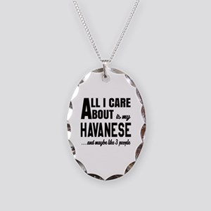 All I care about is my Havanes Necklace Oval Charm