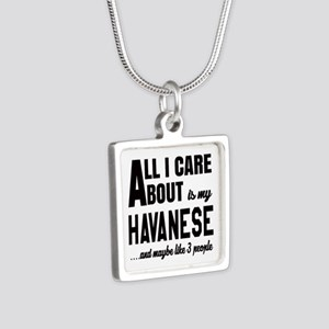 All I care about is my Hav Silver Square Necklace