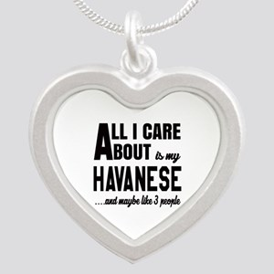 All I care about is my Havan Silver Heart Necklace