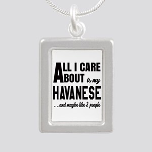 All I care about is my H Silver Portrait Necklace
