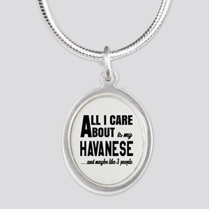 All I care about is my Havane Silver Oval Necklace