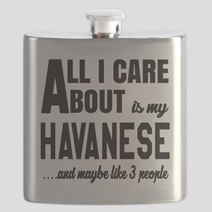 All I care about is my Havanese Dog Flask