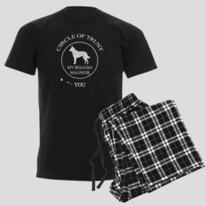 Funny Belgian Malinois Dog Men's Dark Pajamas