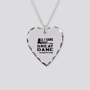 All I care about is my Great Necklace Heart Charm