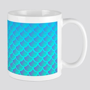 Mermaid Pattern In Aqua Blue and Purple Mugs