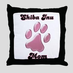 Shiba Mom3 Throw Pillow
