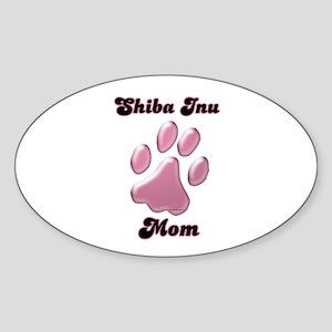 Shiba Mom3 Oval Sticker
