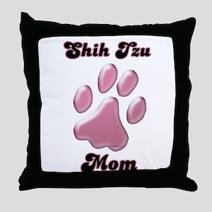 Shih Tzu Mom3 Throw Pillow