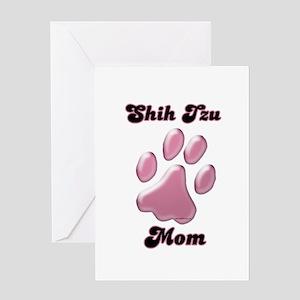 Shih Tzu Mom3 Greeting Card