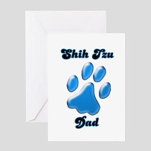 Shih Tzu Dad3 Greeting Card