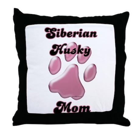 Husky Mom3 Throw Pillow