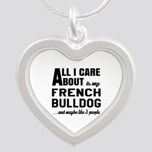 All I care about is my Frenc Silver Heart Necklace