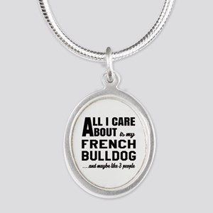 All I care about is my French Silver Oval Necklace