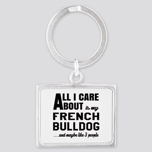 All I care about is my French B Landscape Keychain