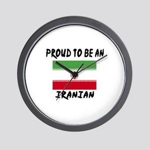 Proud To Be Iranian Wall Clock