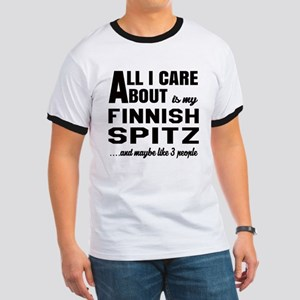 All I care about is my Finnish Spitz Dog Ringer T