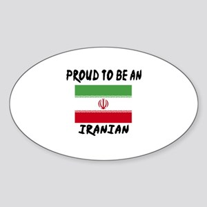 Proud To Be Iranian Sticker (Oval)