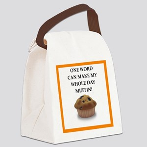 muffin Canvas Lunch Bag
