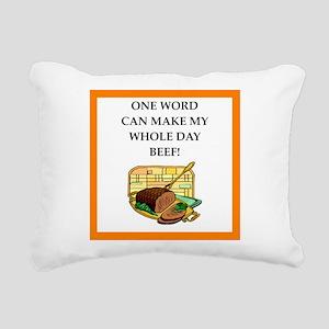 beef Rectangular Canvas Pillow