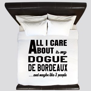 All I care about is my Dogue de Bordeau King Duvet