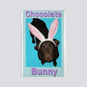 Chocolate Bunny Rectangle Magnet (10 Pack) Magnets