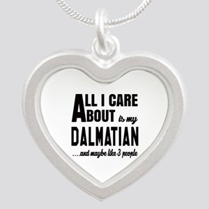 All I care about is my Dalma Silver Heart Necklace