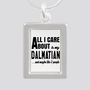 All I care about is my D Silver Portrait Necklace