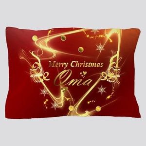 merry christmas oma Pillow Case