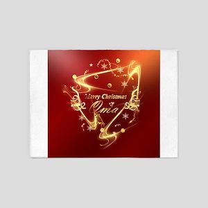 merry christmas oma 5'x7'Area Rug