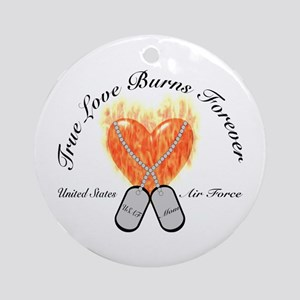 True Love Air Force Mom Ornament (Round)