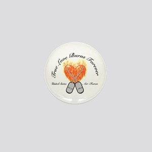 True Love Air Force Mom Mini Button