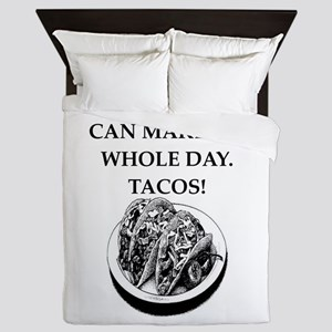tacos Queen Duvet