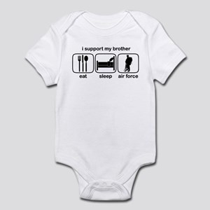Eat Sleep Air Force - Support Bro Infant Bodysuit