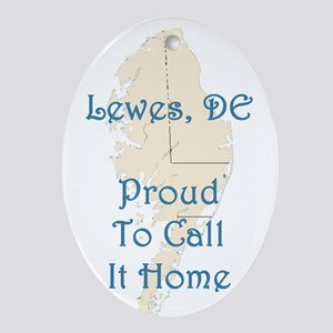 Proud to Call it Home Oval Ornament