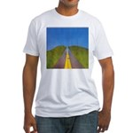 25.highway to heaven. .? Fitted T-Shirt