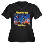 Albuquerque Women's Plus Size V-Neck Dark T-Shirt