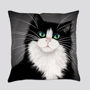 TUX-Tuxedo cats rock Everyday Pillow