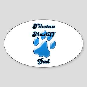 Tibetan Mastiff Dad3 Oval Sticker