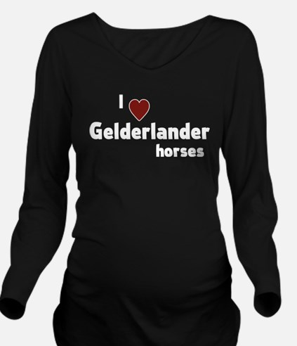 Gelderlander horses Long Sleeve Maternity T-Shirt