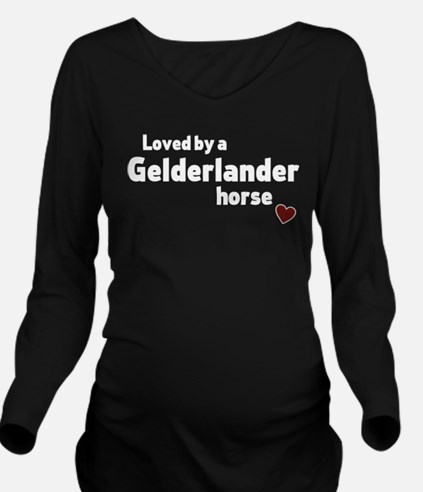 Gelderlander horse Long Sleeve Maternity T-Shirt