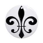New Orleans Fleu De Lis Art Ornament (Round)