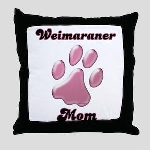 Weimaraner Mom3 Throw Pillow