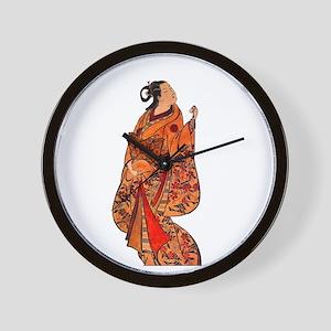 Orange Geisha Wall Clock