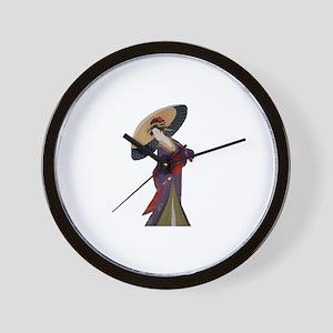 umbrella Geisha Wall Clock