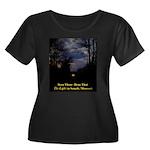 Women's Scoop Neck Dark Plus Size T-Shirt