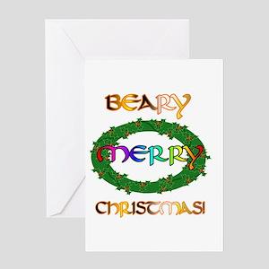 BEARY MERRY CHRISTMAS Greeting Card