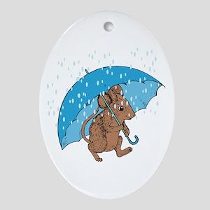 Rainy Day Oval Ornament
